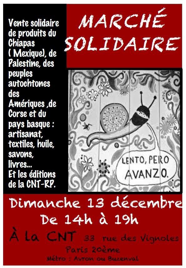 affiche marché solidaire 2015
