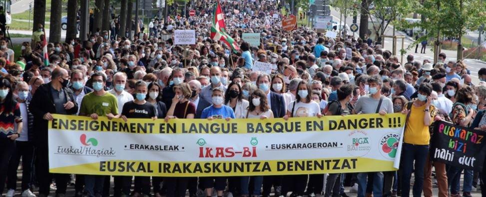 Manif langue basque